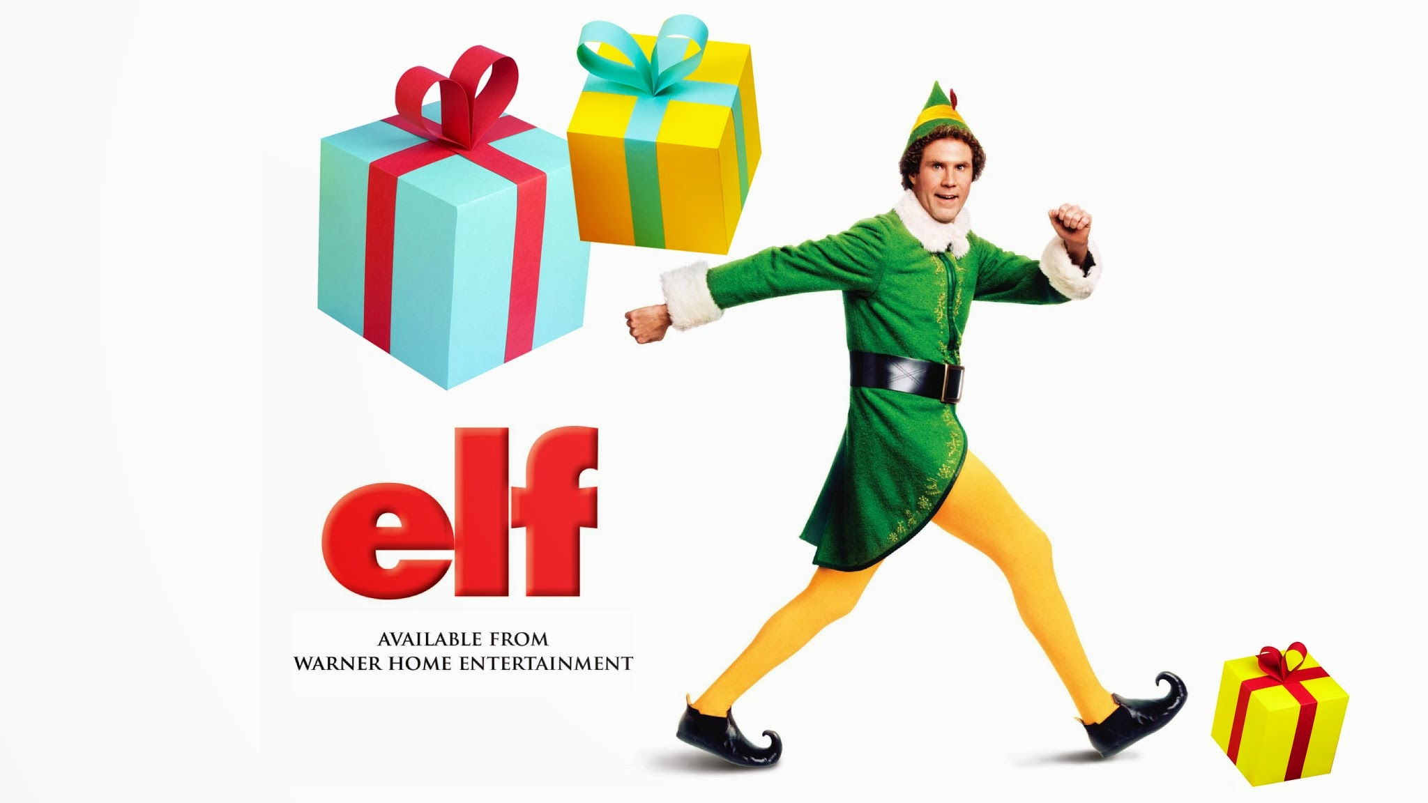 ELF comedy christmas poster d wallpaper background 2048x1152