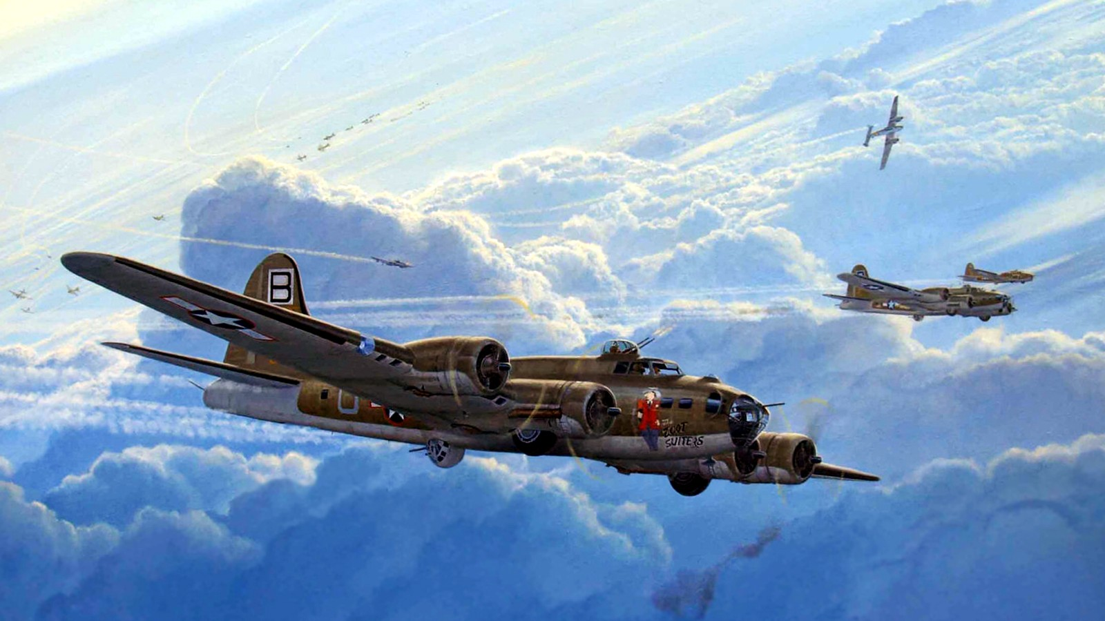 Military   Boeing B 17 Flying Fortress Wallpaper 1600x900