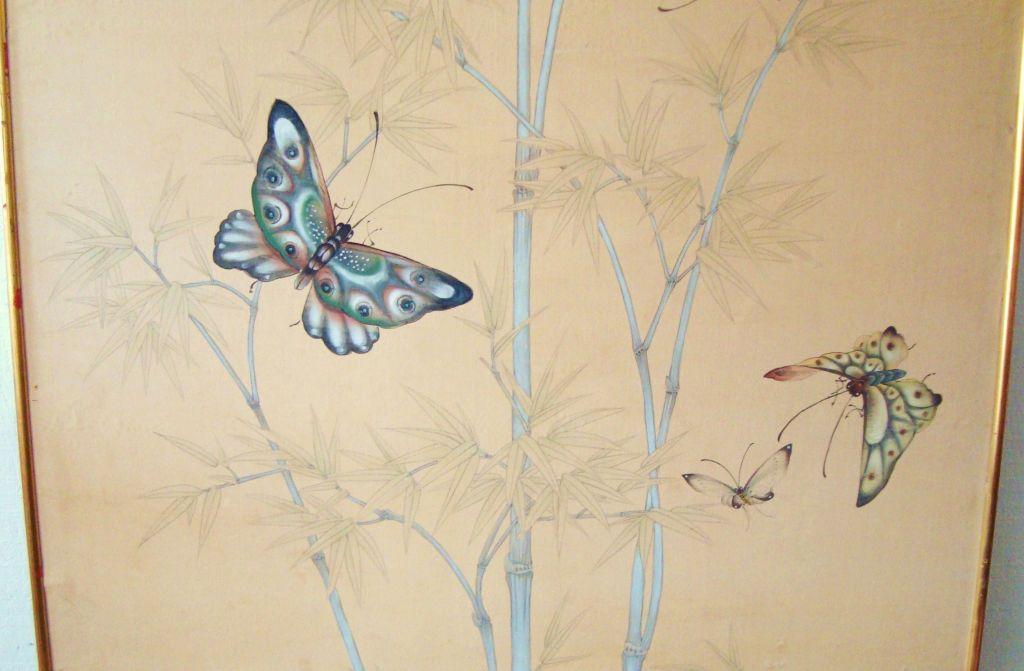 Large Vintage Gracie Hand Painted Framed Wallpaper Panel at 1stdibs 1024x671