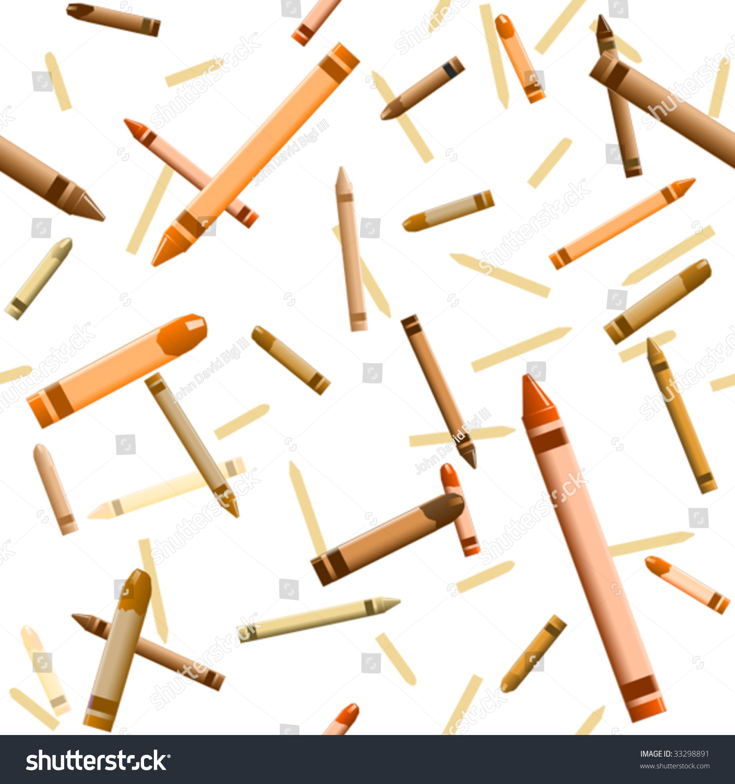 Background Tumbling Orange Vector Crayons Seamless Stock Vector 1500x1600