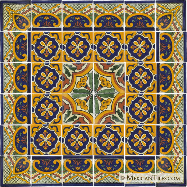Mexican Tiles   Mexican Ceramic Tile   Mexican Talavera 602x602