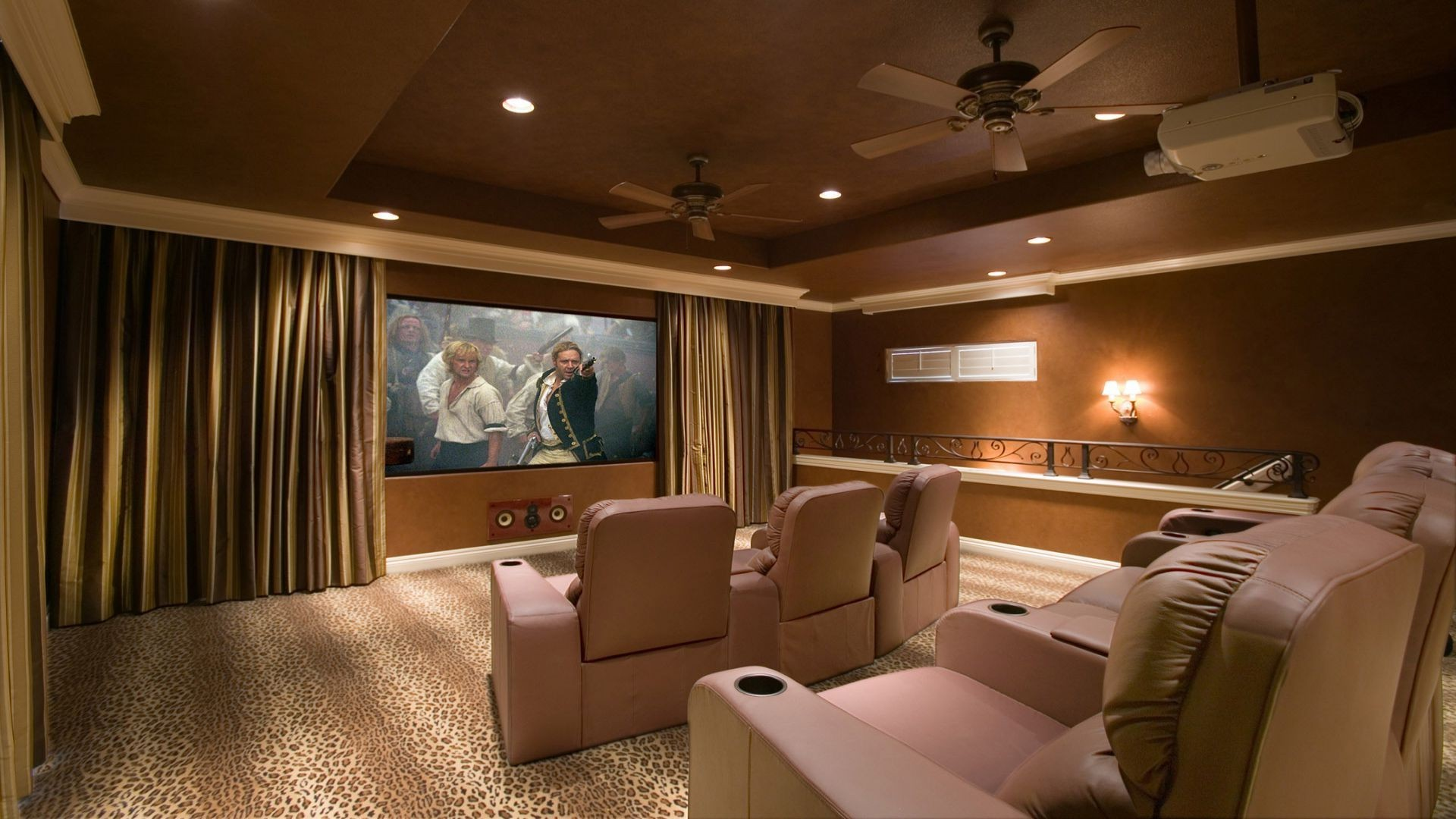 Home theatre wallpaper wallpapersafari for Wallpaper home theater