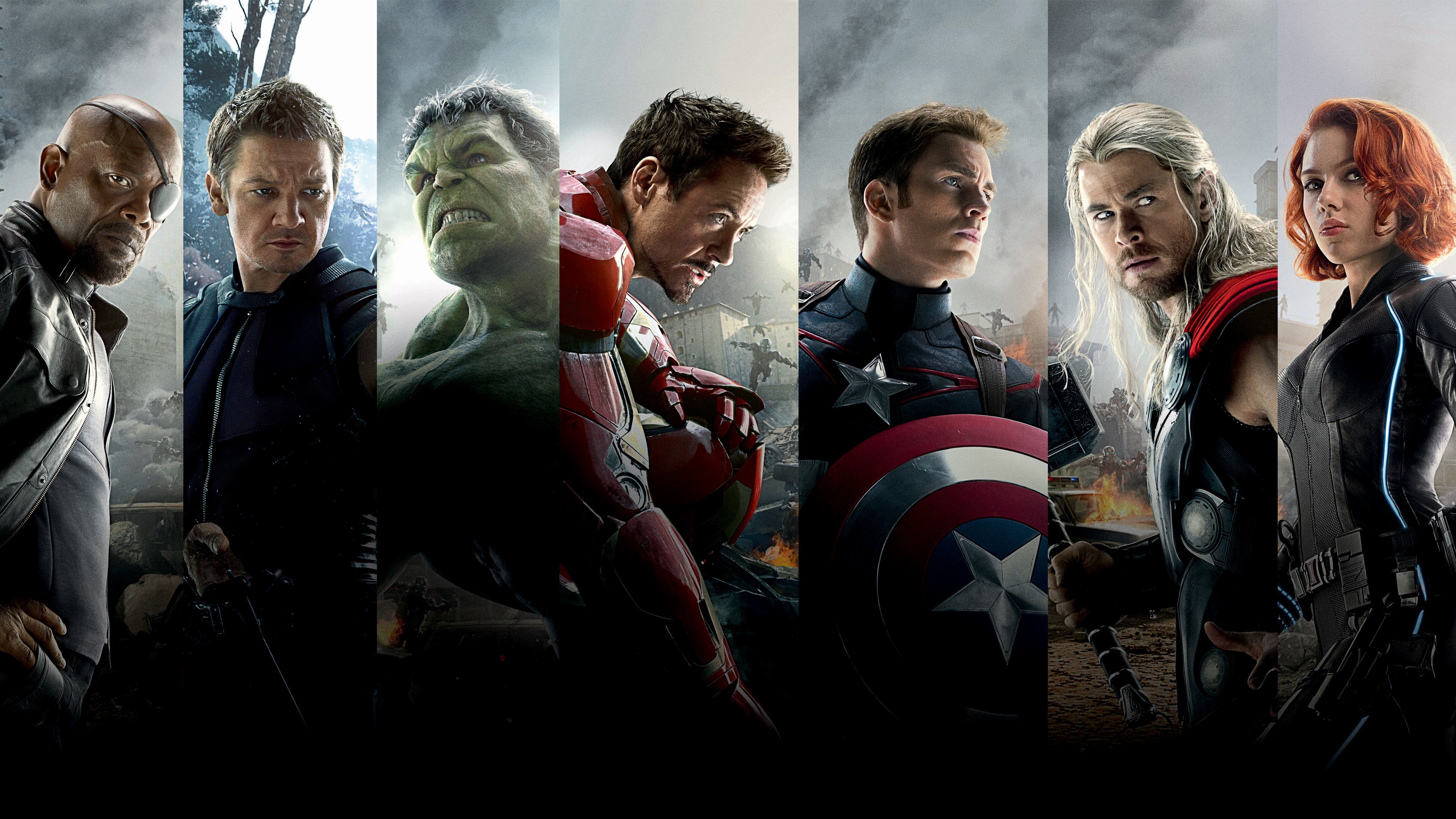 Avengers Age of Ultron Team Wallpapers HD Wallpapers 3840x2160