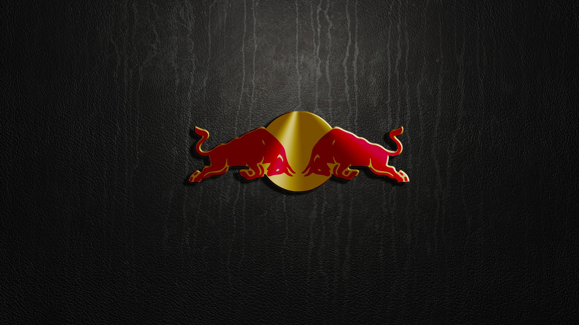 Red Bull Logo Leather Texture q wallpaper background 1920x1080