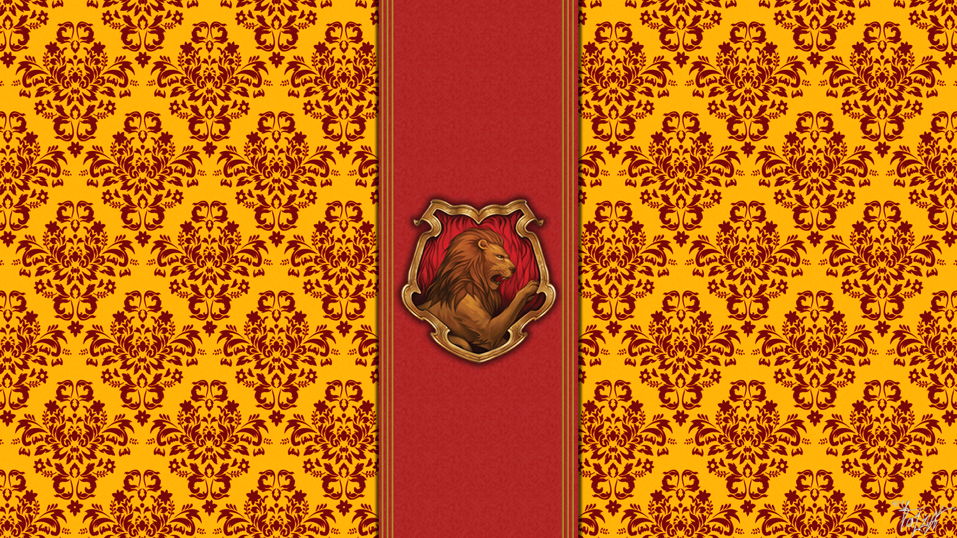 hogwarts house wallpaper   gryffindor by theladyavatar d4ol8mtjpg 1920x1080
