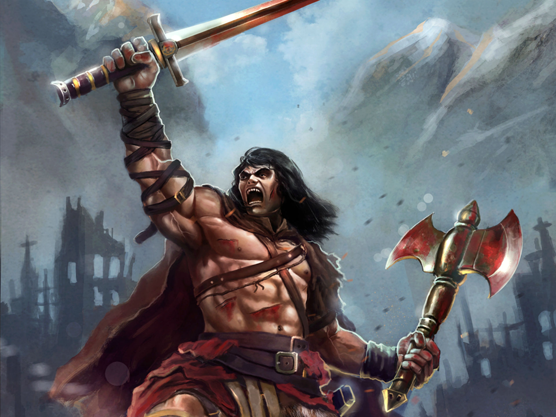 PK97 High Definition Barbarian Pictures Mobile PC 1920x1440