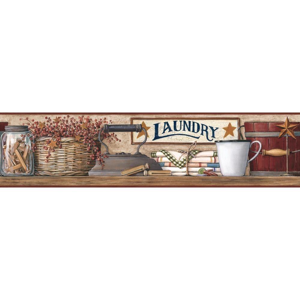 Country Laundry Wallpaper Border by York eBay 1000x1000