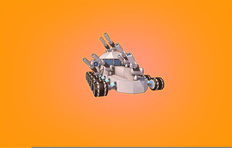 Wallpaper Minimalism The game Machine Cube Tank Game 1332x850