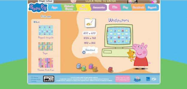 pig wallpapers p2 games personalizza il tuo desktop con peppa pig 5 0 626x300