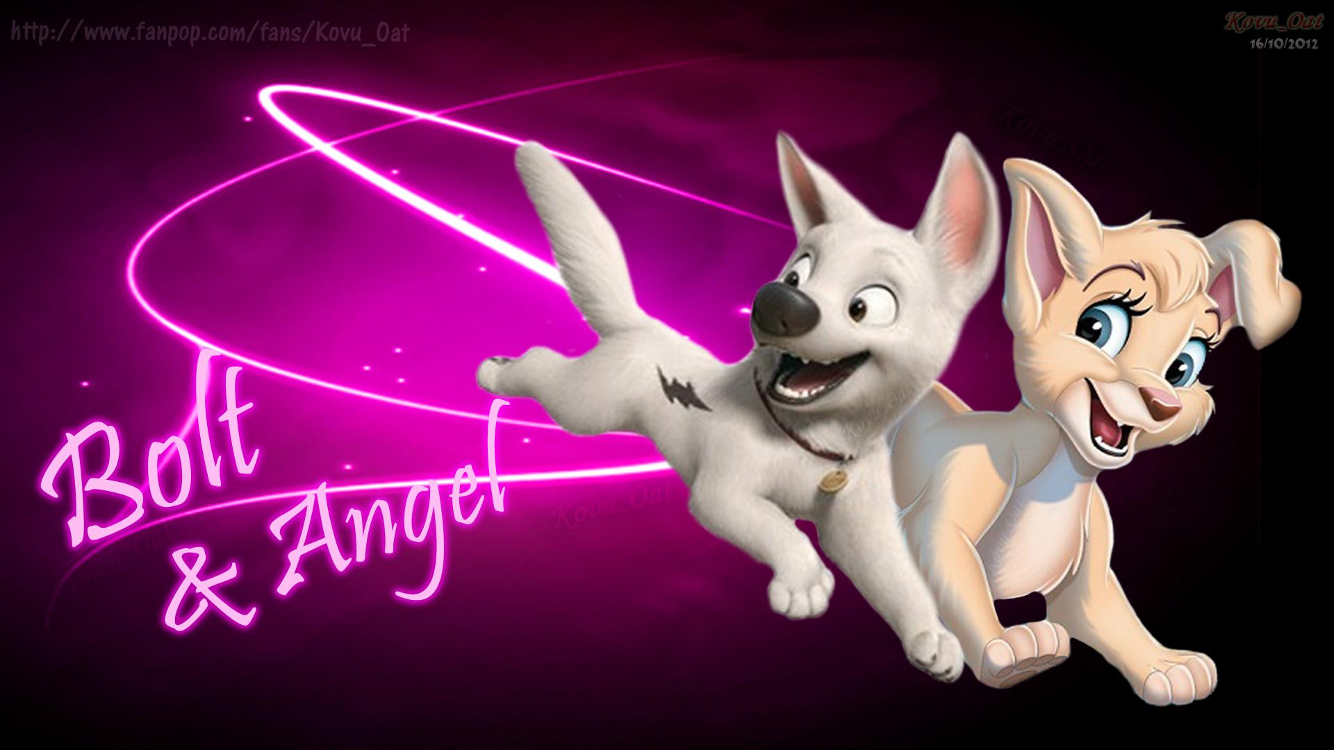 Disney Bolt dog and Angel Lady Tramp HD   Kovu Oat Wallpaper 32492587 1920x1080