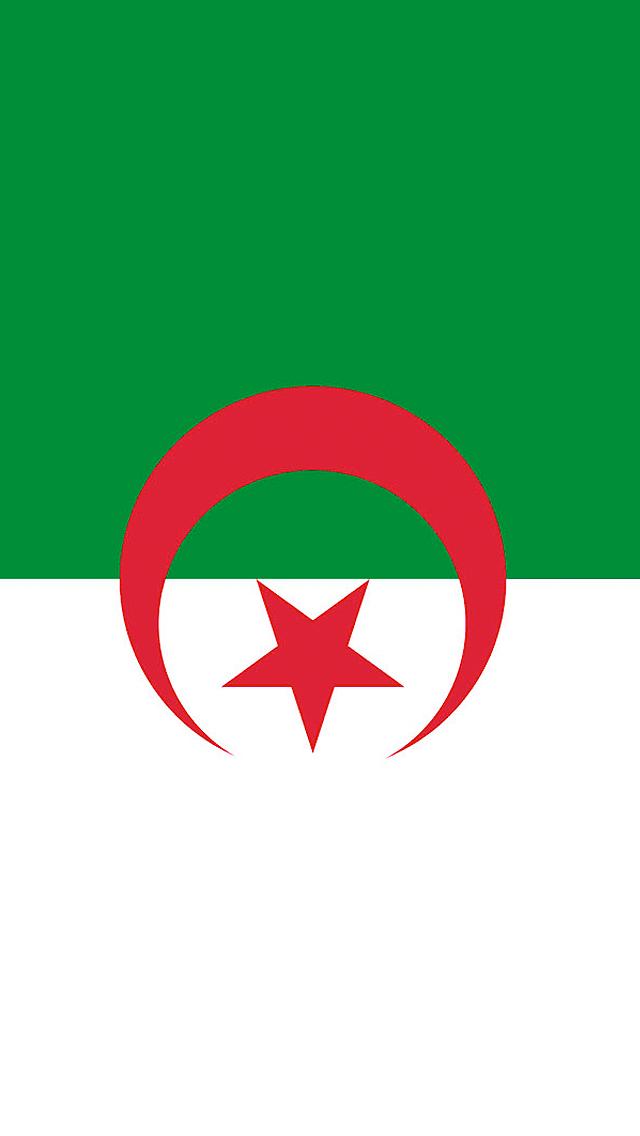 Algeria Flag iPhone Wallpaper HD 640x1136