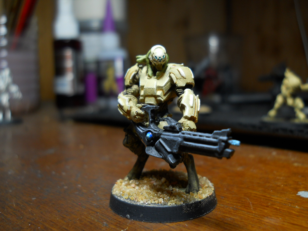 Infinity the Game Tohaa Chaksa HMG WIP by SephKnight 1024x768
