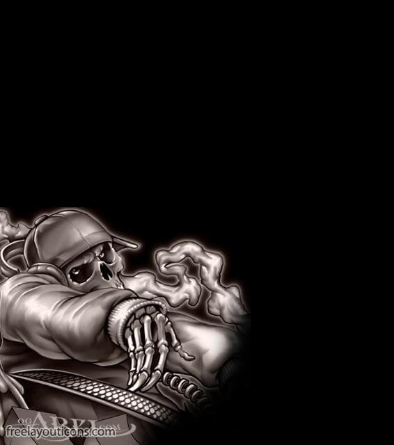 Skull Guitar Wallpaper Hd: Gangster Background