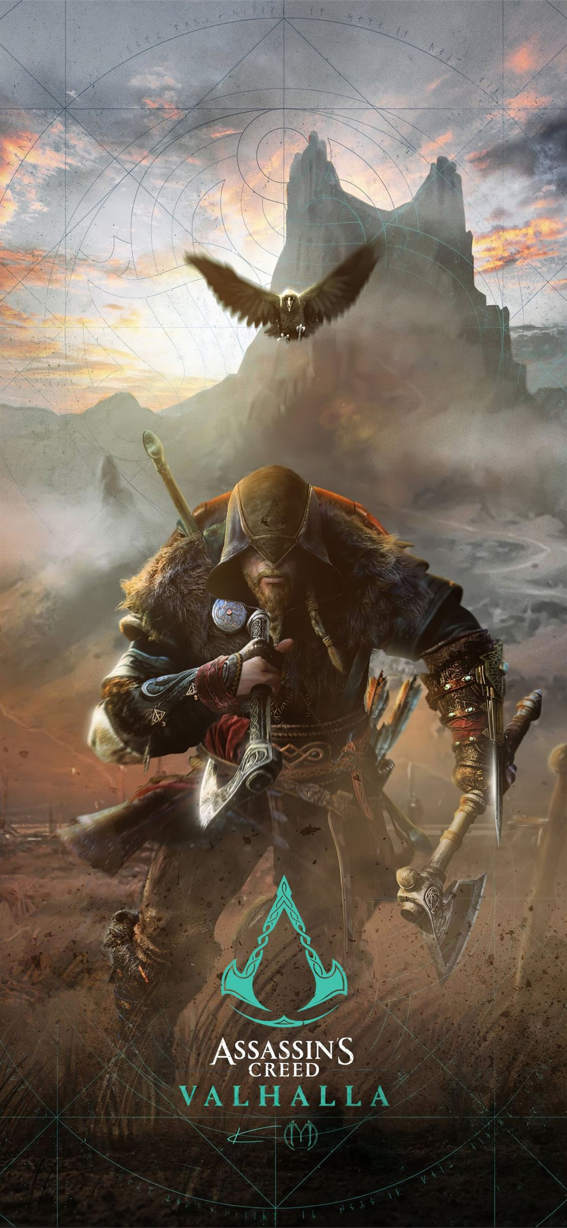 assassins creed valhalla game 2020 iPhone X Wallpapers Download 1125x2436
