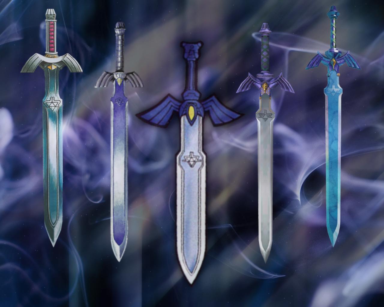Master Swords by JocelynJEG 1280x1024