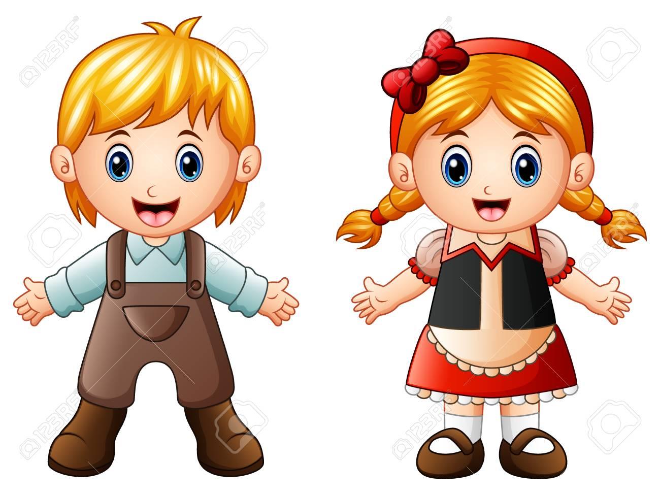 Vector Illustration Of Children Story Hansel And Gretel Royalty 1300x975