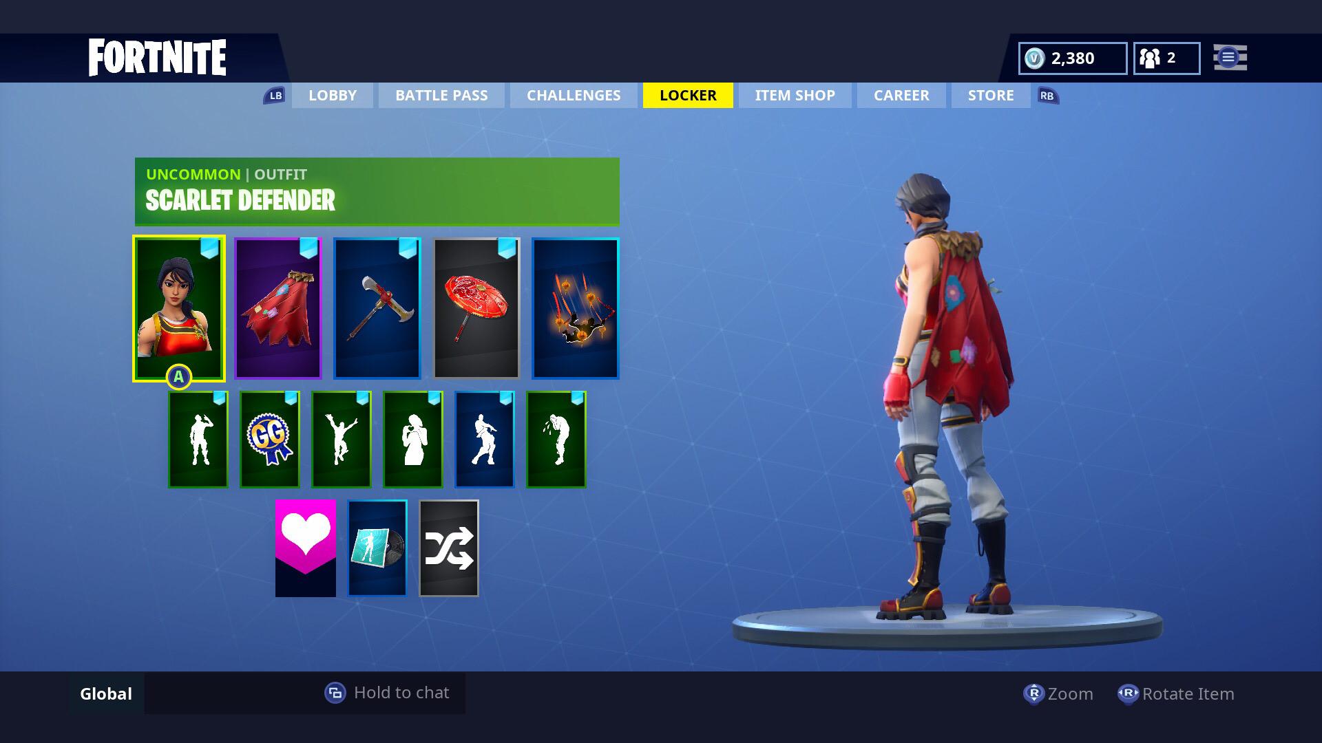 scarlet defender fabled cape axecalibur goddess 1920x1080 - fortnite scarlet defender skin