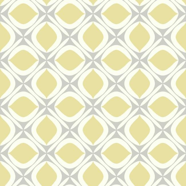 Foxy Wallpaper In Yellow And Grey Design By York Wallcoverings Burke 650x650