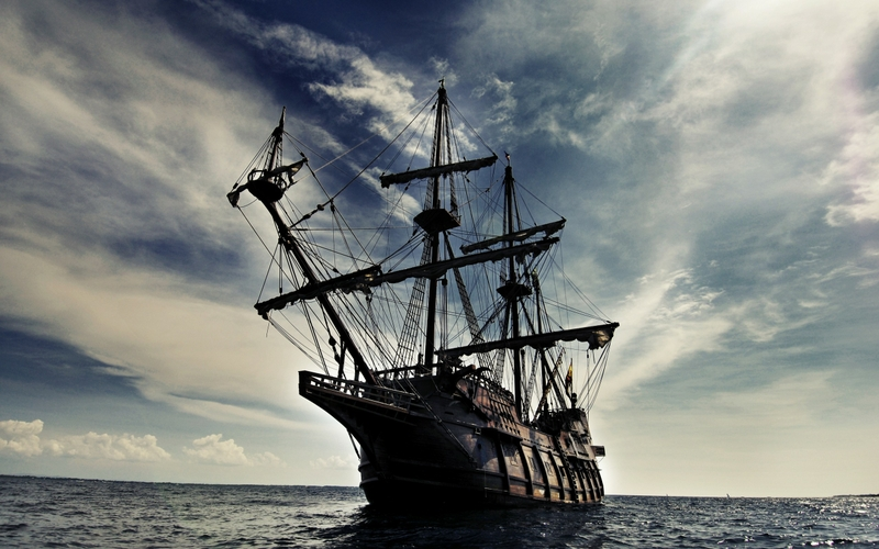 oceanspirate ship pirate ship oceans skydoll 2560x1600 wallpaper 800x500
