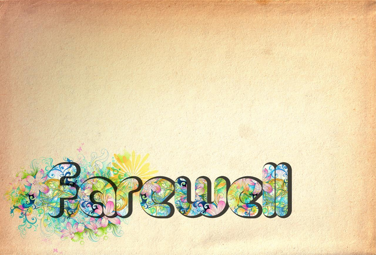 Farewell Backgrounds 1280x868