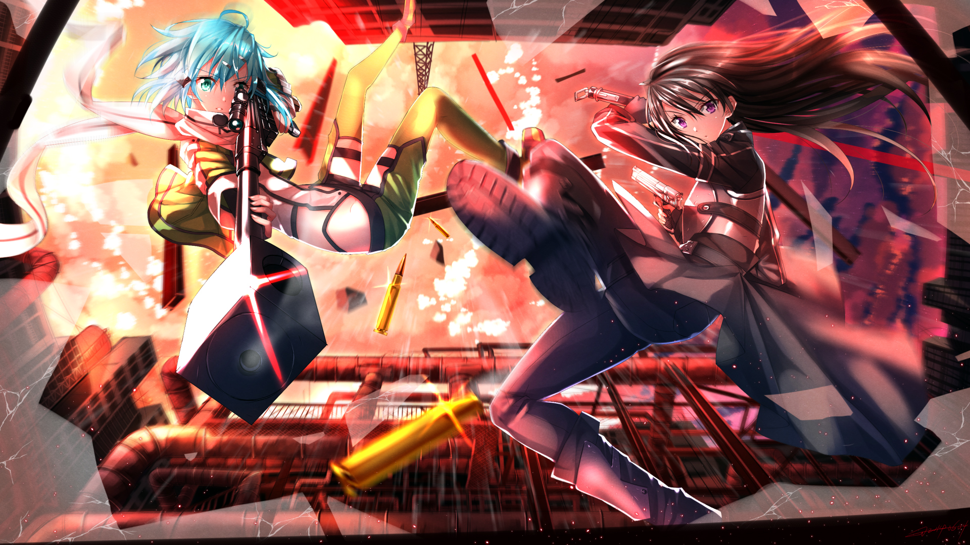SAO 2 HD 1920x1080 1080p wallpaper and compatible for 1280x720 1920x1080