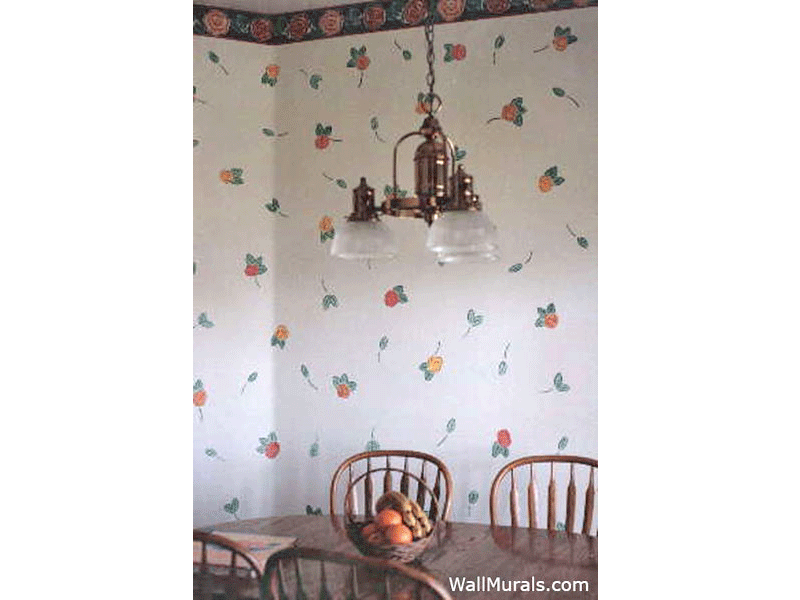 Kitchen Wall Murals   Hand Painted Kitchen Murals and Borders 800x600