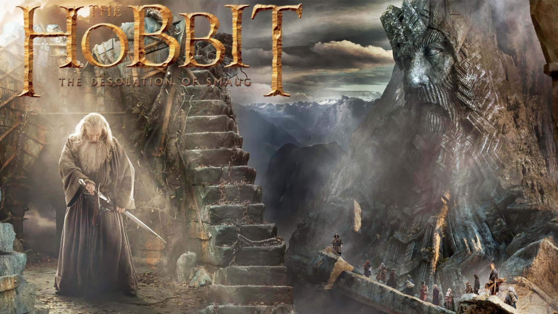 Wallpaper The Hobbit The Desolation Of Smaug Gandalf HD Wallpaper 1920x1080
