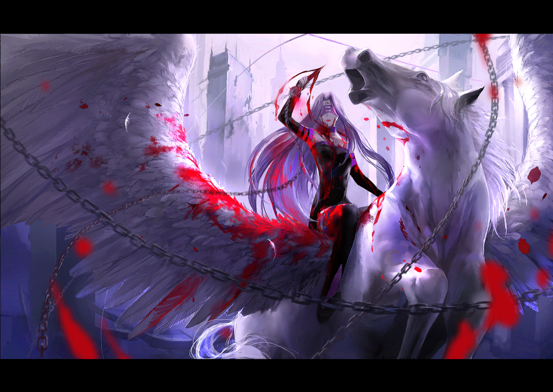 Blood fate stay night kzcjimmy pegasus rider wallpaper 1769x1253 1769x1253