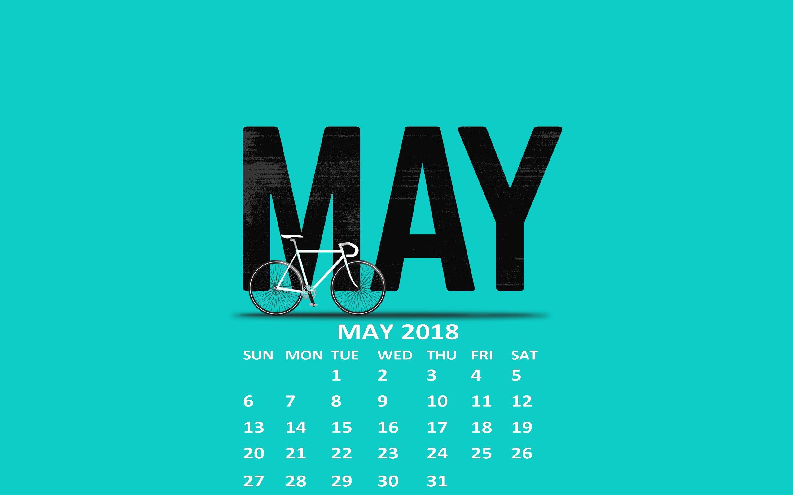 May 2018 Calendar Wallpapers 2018 Calendars May 2018 calendar 2560x1600