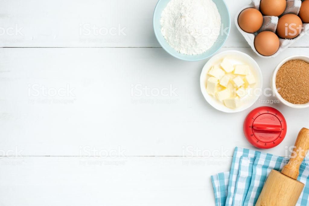 Baking Ingredients On White Background Stock Photo   Download 1024x683