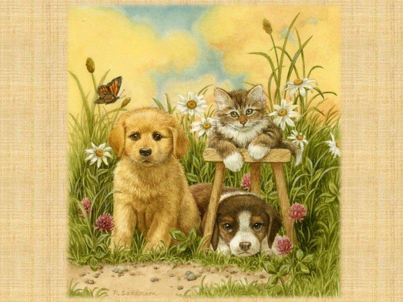 Открытки со щенками друзьям 12