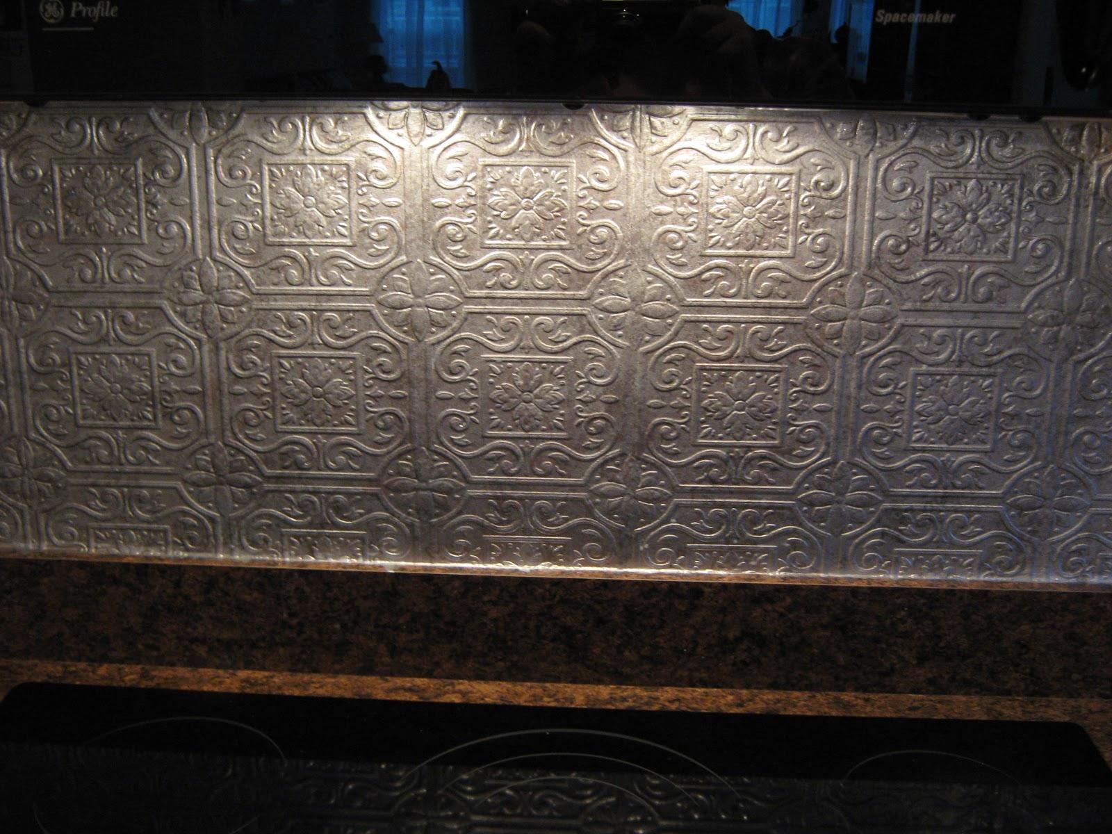 Wallpaper as back splash wallpapersafari for Vinyl wallpaper backsplash