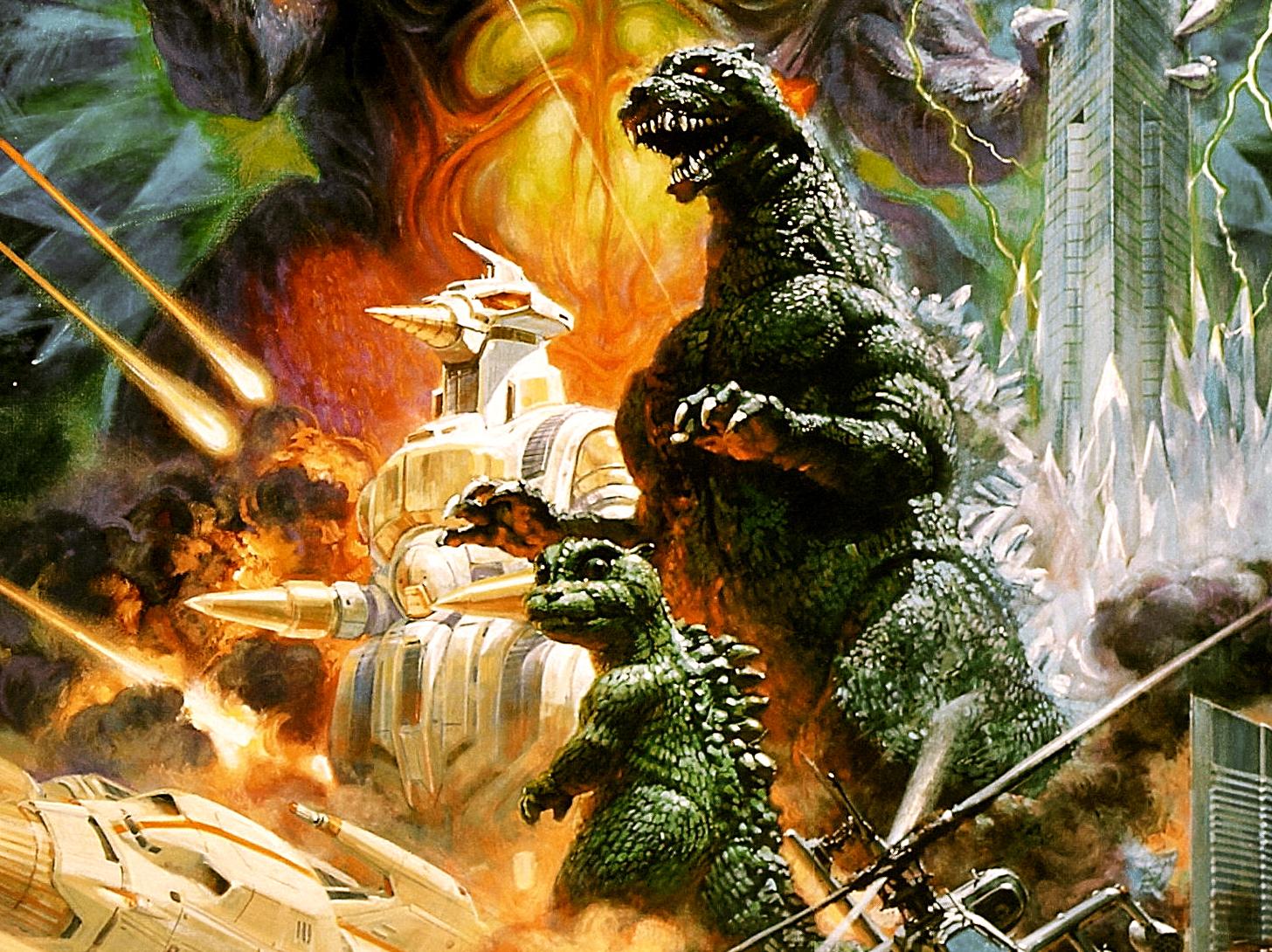 Godzilla Vs Space Godzilla Computer Wallpapers Desktop Backgrounds 1456x1090