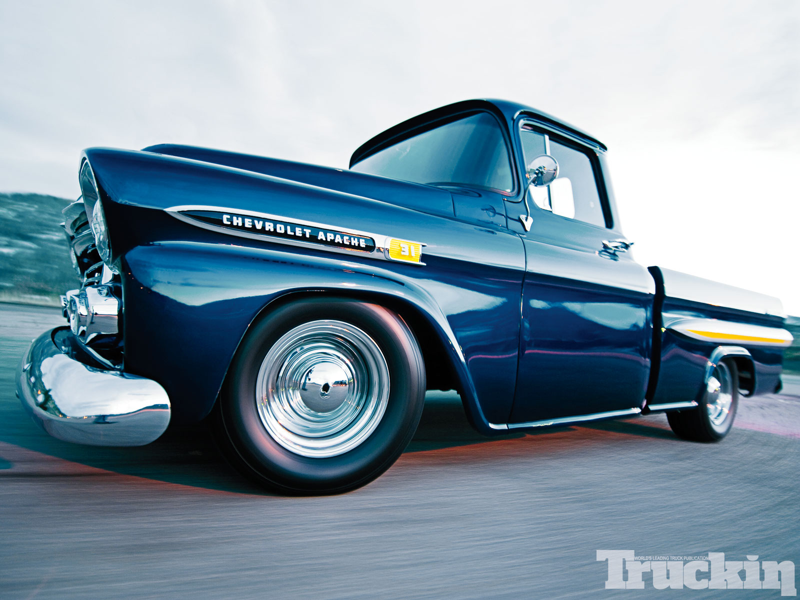 Truckin Desktop Wallpapers Issue 8 1959 Chevy Apache Photo 12 1600x1200