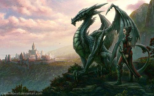 dragon screensaver 500x313