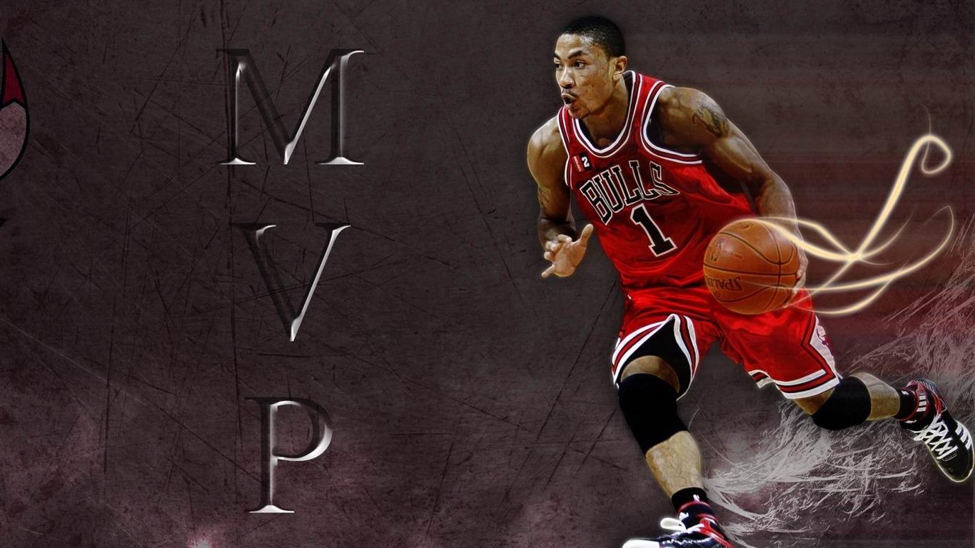 Derrick Rose NBA2012 Basketball Desktop Wallpaper selection 1366x768