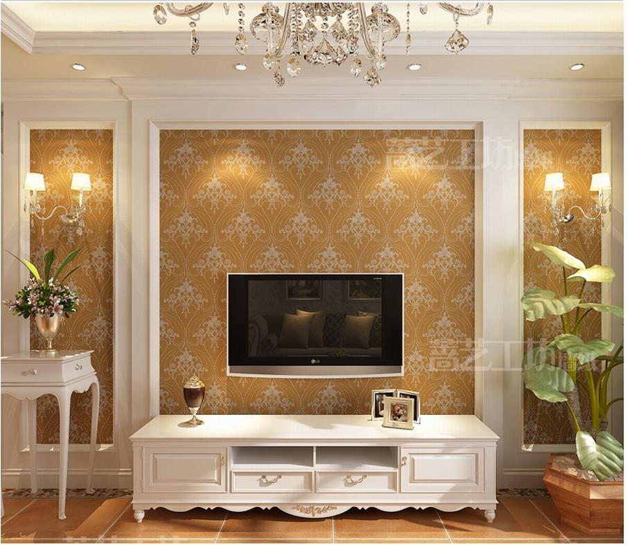 Wallpaper TV Wall Background Wallpaper Luxury Italian Style Living 907x788