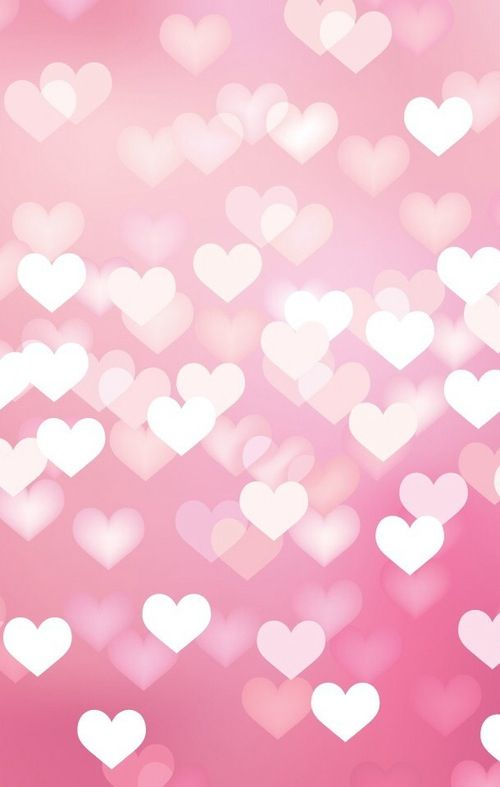 Wallpaper Bokeh Background Wallpapers Hearts Wallpaper Pink Hearts 500x787
