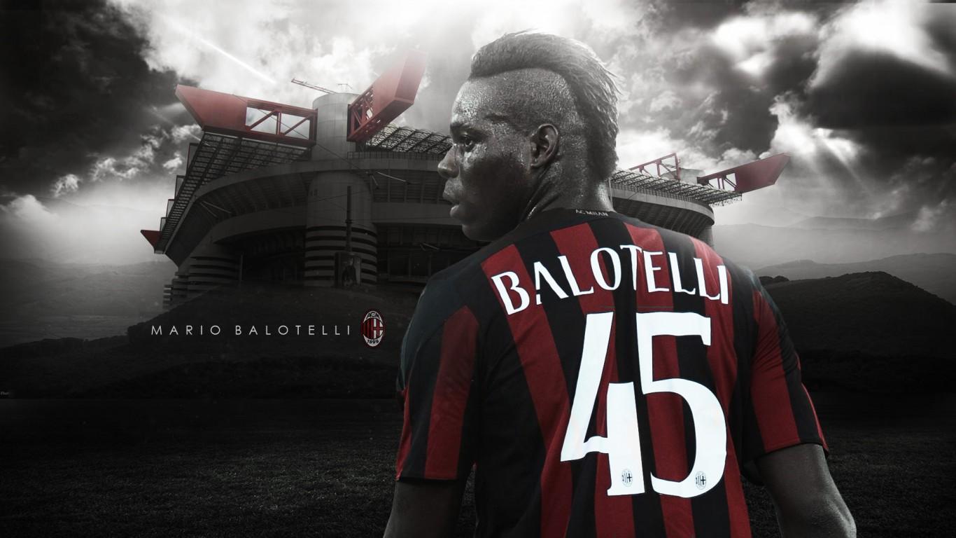 Mario Balotelli AC Milan 20152016 Wallpaper   Football Wallpapers HD 1366x768