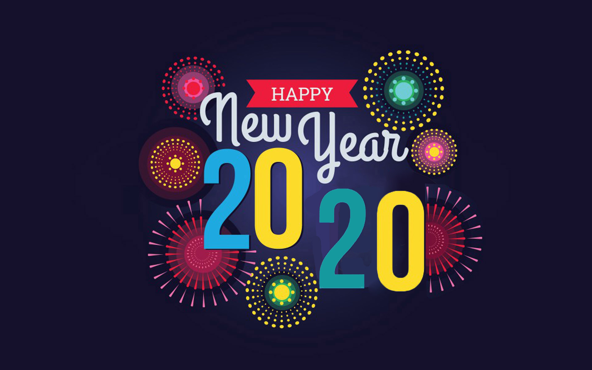 Happy New Year 2020 Fireworks Art Painted Wallpapers Hd 1920x1200 1920x1200