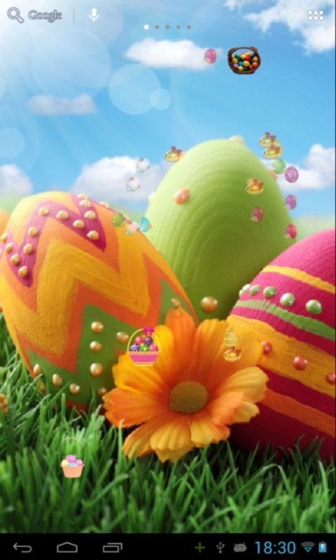 Download Easter Live Wallpaper for your Android phone 480x800