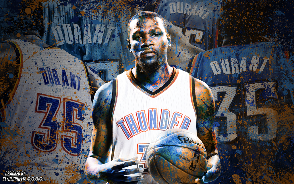 Kevin Durant Painted Wallpaper by ClydeGraffix 1024x640