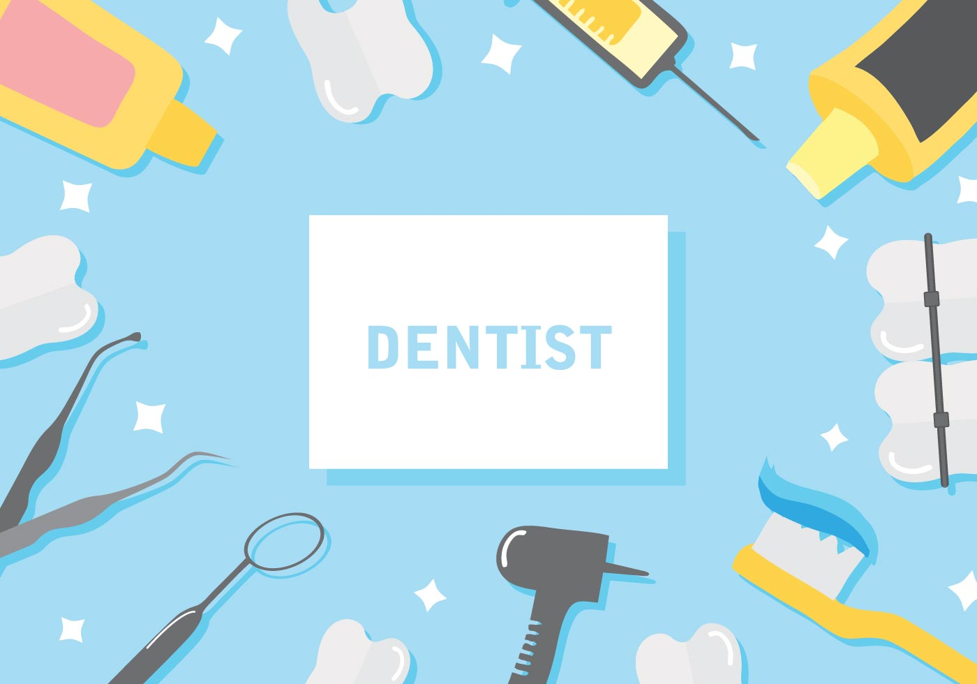 Dentist Background Vector Illustration 136994 Vector Art at 1400x980
