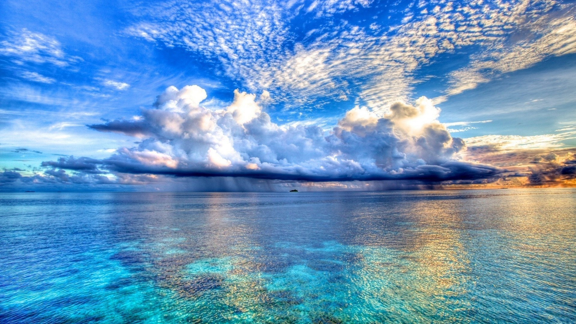 Blue Ocean Wallpaper HD Wallpaper WallpaperLepi 1920x1080