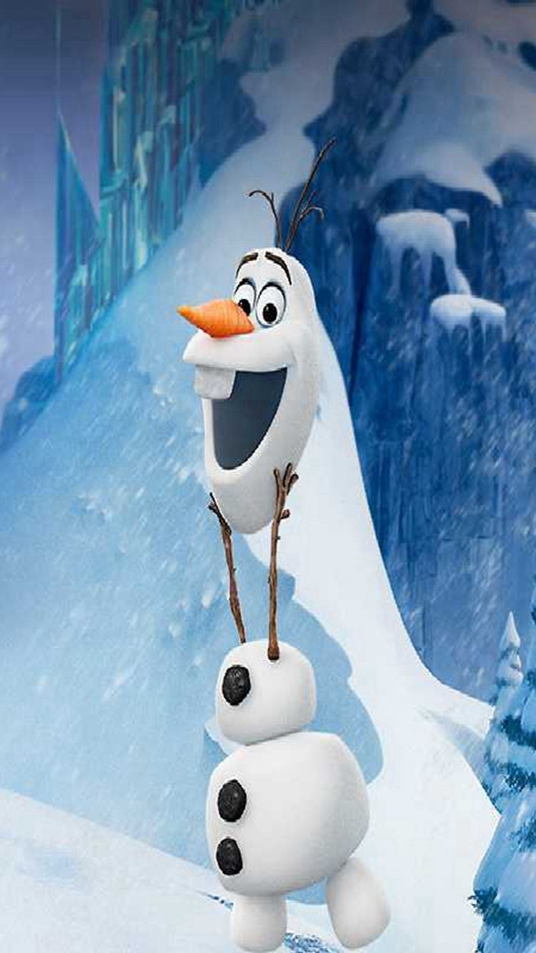 Funny Olaf Disney Frozen iPhone 6 Wallpaper for 2015 Halloween   Snow 750x1334