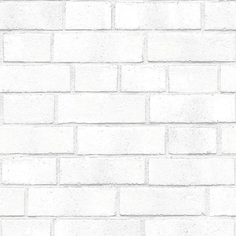 \ Wall Decor \ Wallpaper \ Brick Textured White Removable Wallpaper 800x800