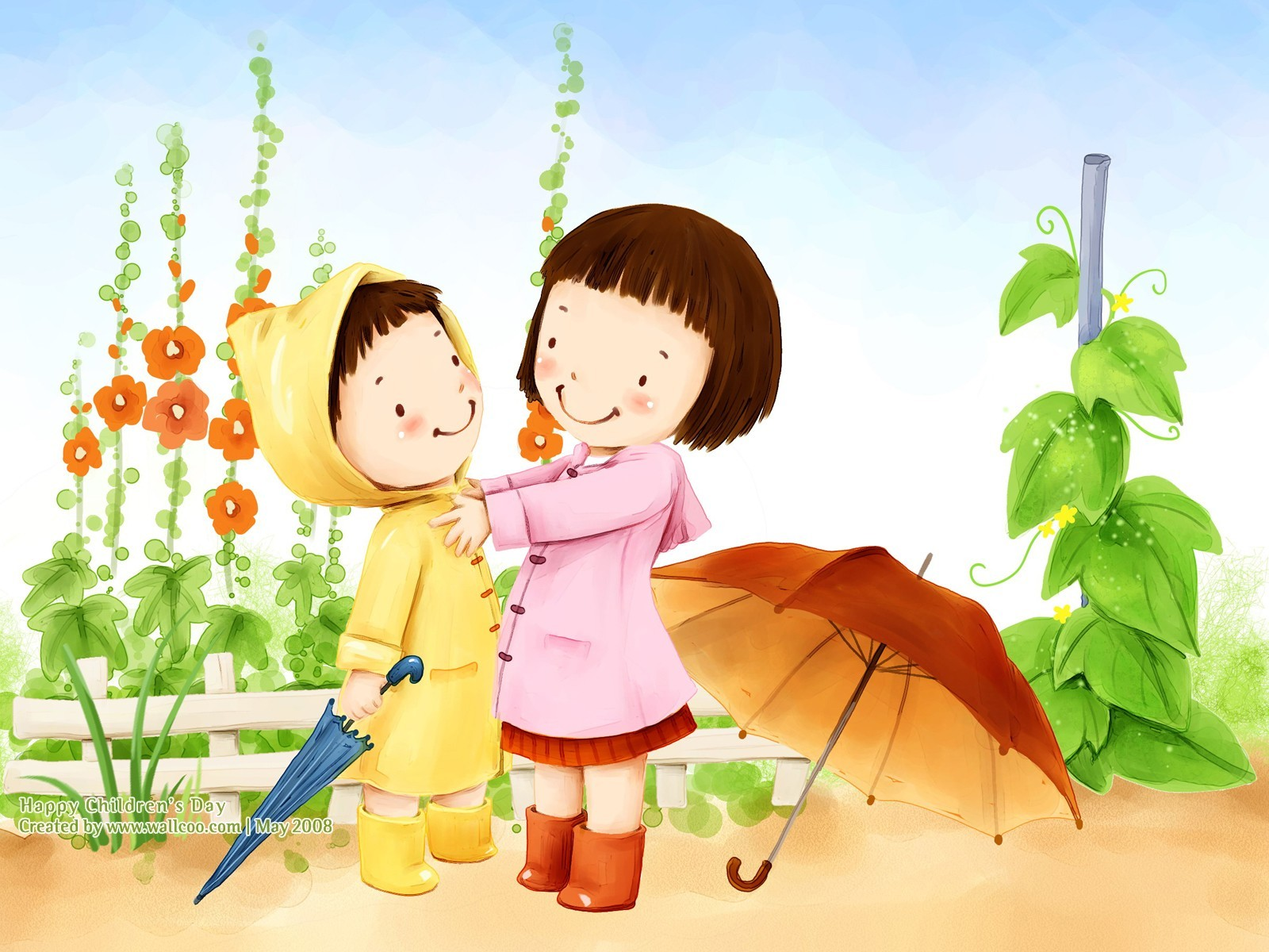 Childrens Day Wallpaper Greetings KidsFunDrawingArtCartoon 1600x1200