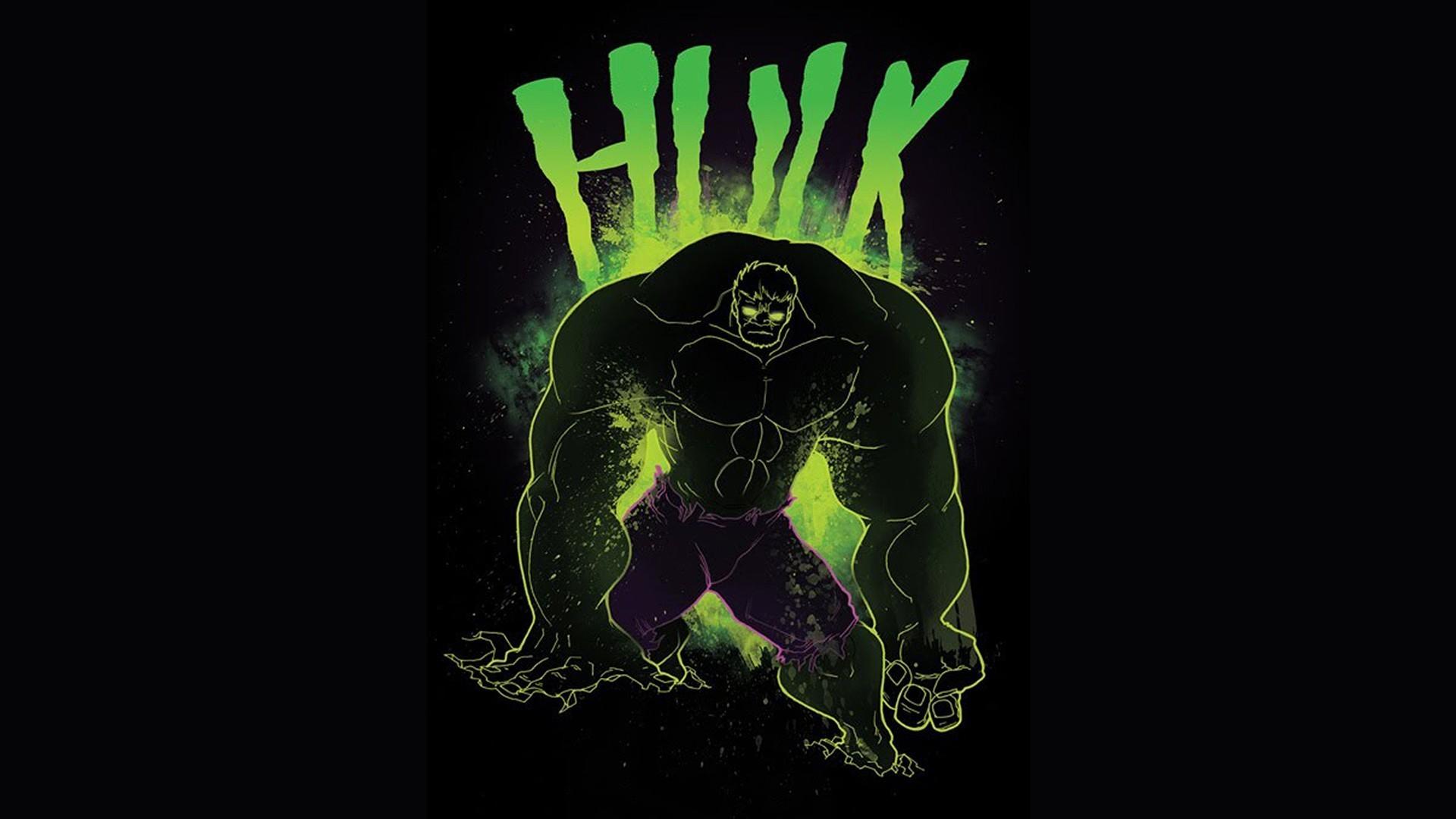 Hulk marvel comics black background fan art wallpaper 1920x1080