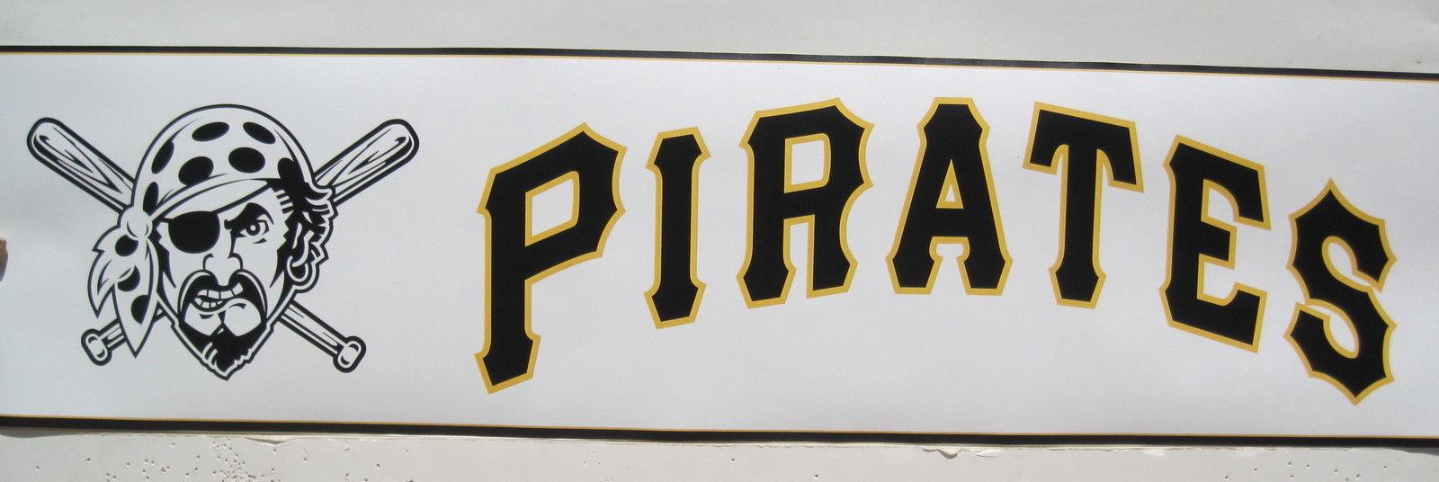 PITTSBURGH PIRATES BASEBALL LOGOS wallpaper border 6 1600x536