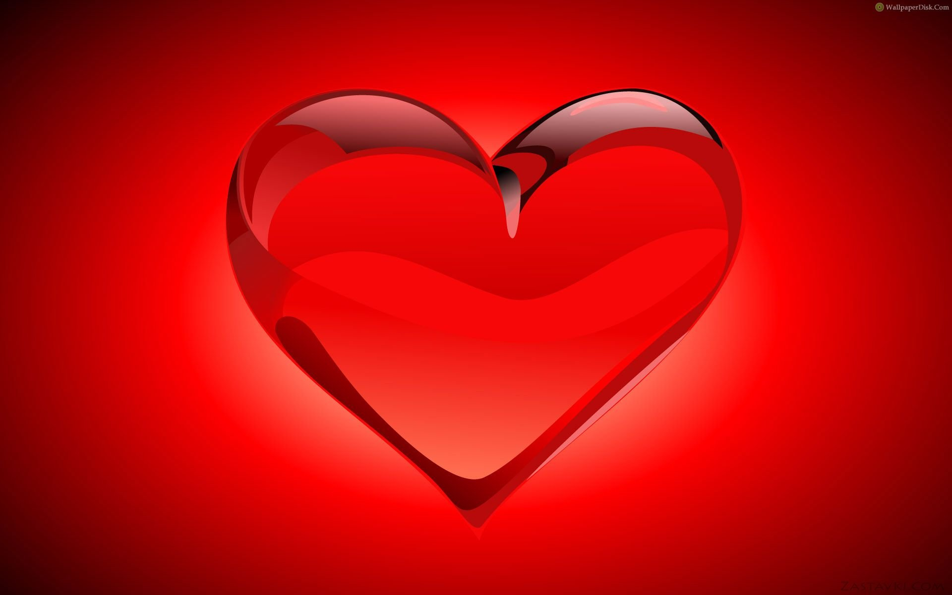 Best Crystal Red Heart Desktop Wallpapers Background Collection 1920x1200